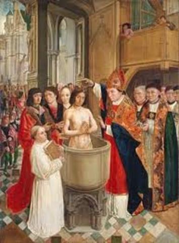 CLODOVEO SE CONVIERTE AL CRISTIANISMO