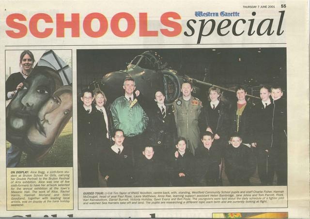 Students visit RNAS Yeovil June 2001