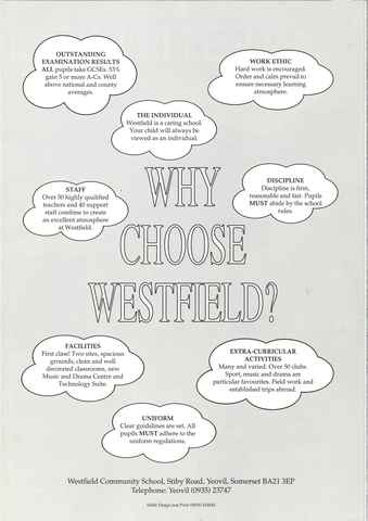 Why Choose Westfield Poster 1992