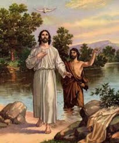 Christ is baptized