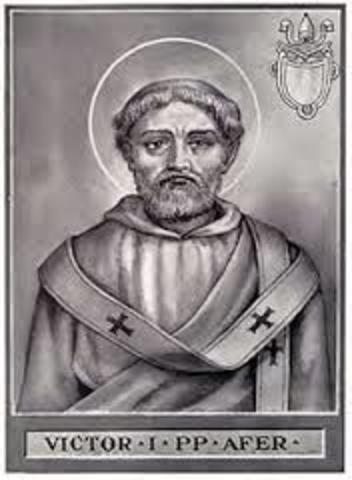 Pope Victor I excommunicates the Quartodecimians