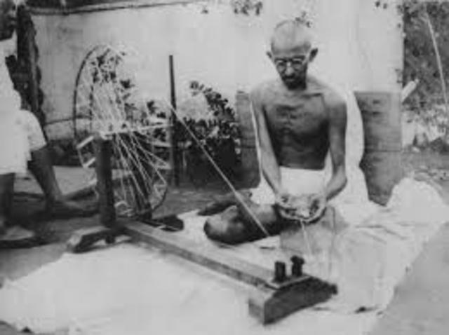 Gandhi's First Protest
