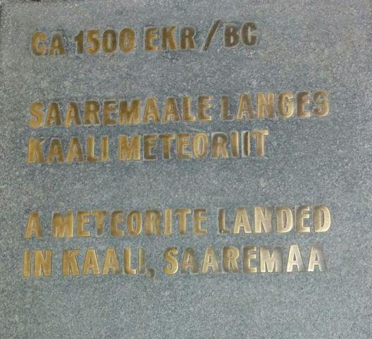 Saaremaal langes Kaali meteoriit
