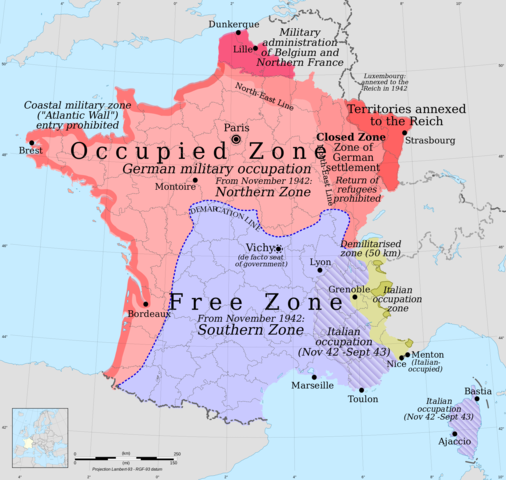 Italy invades France's Southern Region