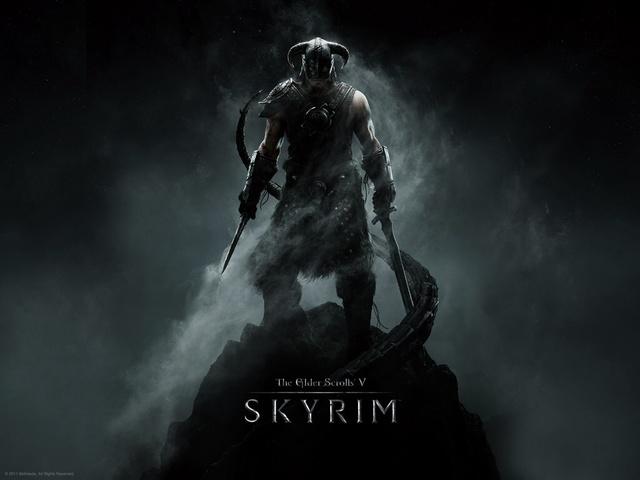Receiving Skyrim for Christmas.