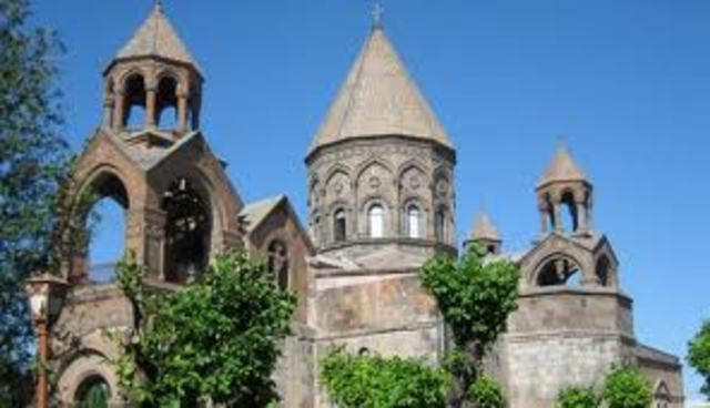 Christianity is introduced in Armenia