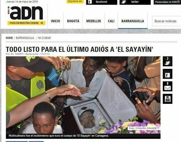 TODO LISTO PARA EL ÚLTIMO ADIÓS A 'EL SAYAYÍN'
