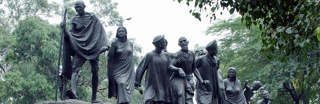 Gandhi leads Salt March