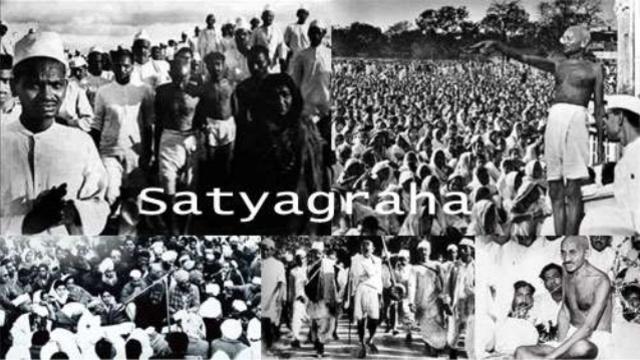 Gandhi Launches Satyagraha