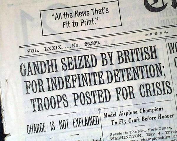 Gandhi Arrested Again