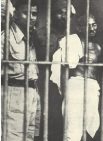 Gandhi is arrested for the first time
