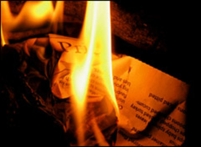 Burning of evil