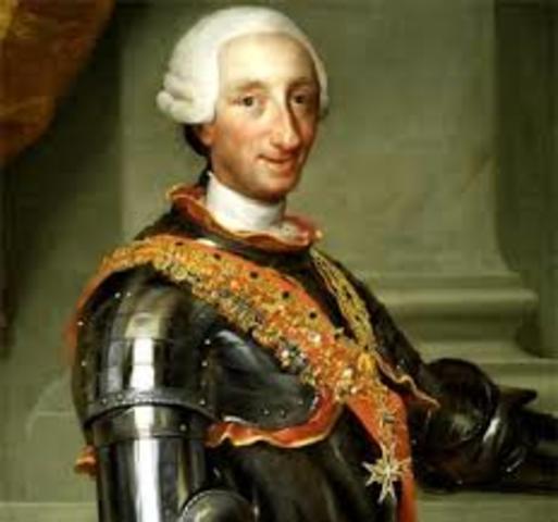 CARLOS III accede al trono de España