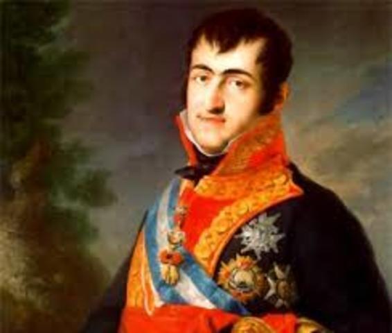 FERNANDO VII accede al trono de España