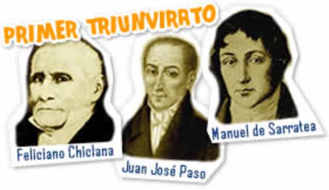Creación del Primer Triunvirato