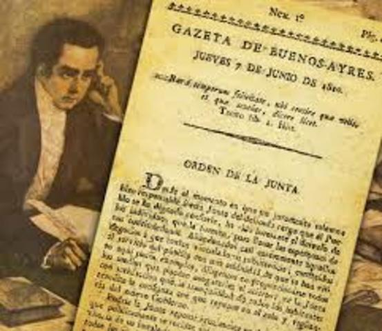 Publicación de La Gazeta de Buenos Aires