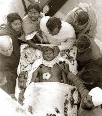 Gandhi's dead