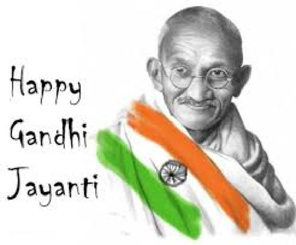 Gandhi was born.
