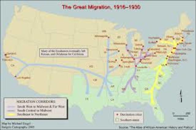 Start of The Great Migration