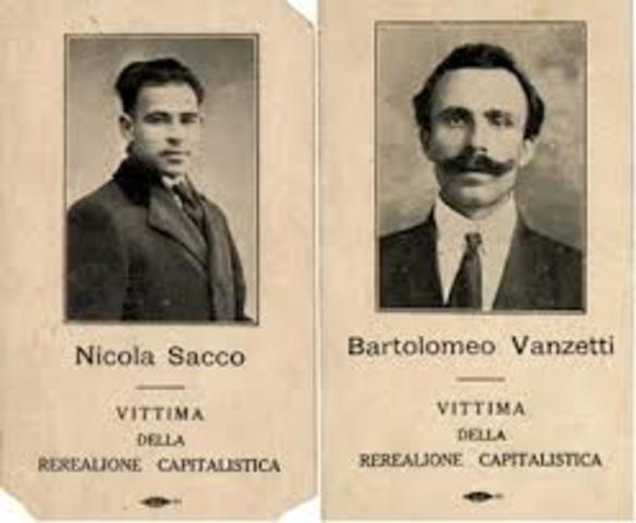 Beginning of Trial of Sacco and Vanzetti