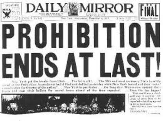 End of Prohibition (19th Amendment)