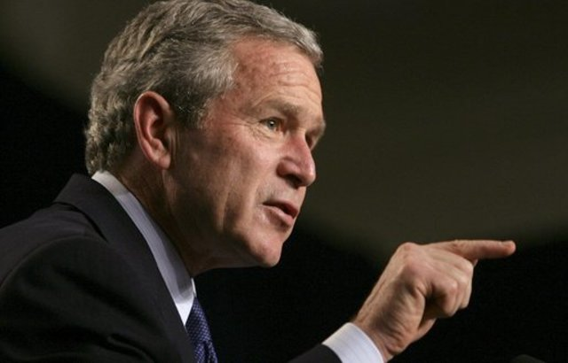 """Bush: bin Laden """"not the issue."""""""