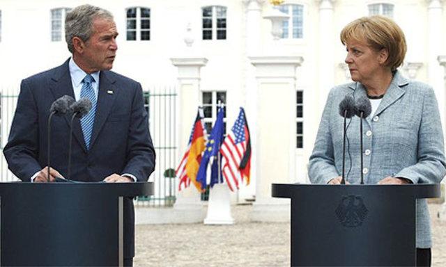 Attitude towards Bush improves in Europe