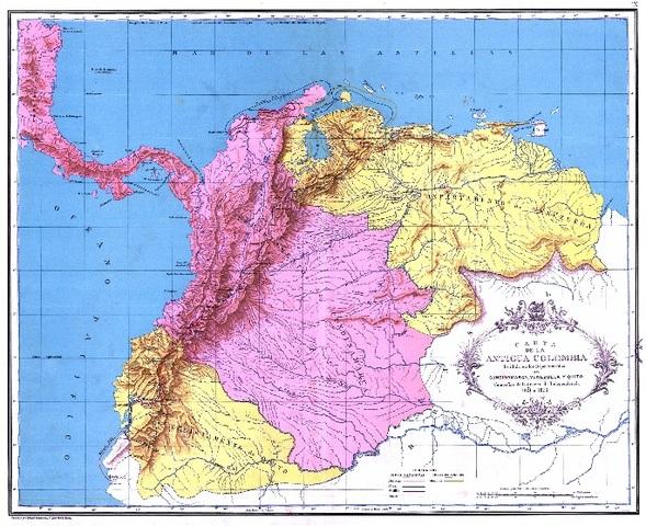 Distribución Depto. de Colombia
