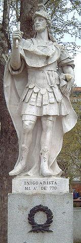 En 841 Iñigo Arista es víctima de una enfermedad que lo deja paralítico.