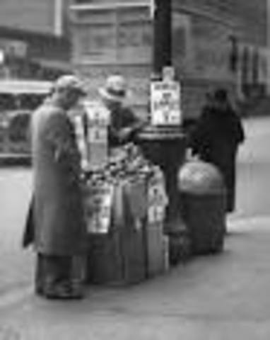 New Yorkers begin to sell apples.