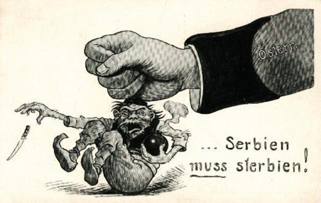 Austria-Hungary makes an Ultimatum to Serbia.