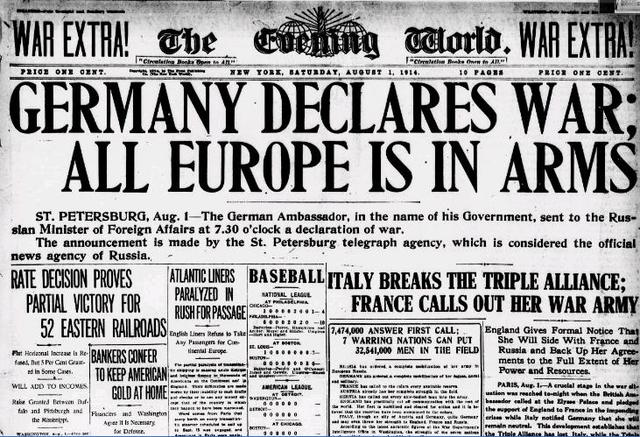 Germany declares war to Russia