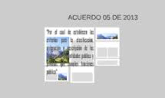 Acuerdo 05 del 2013)