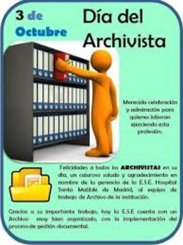 Día Nacional de los Archivos y del Archivista. Decreto 3666
