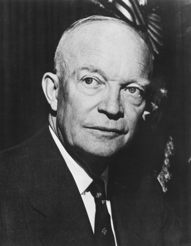 Dwight Eisenhower is elected president.