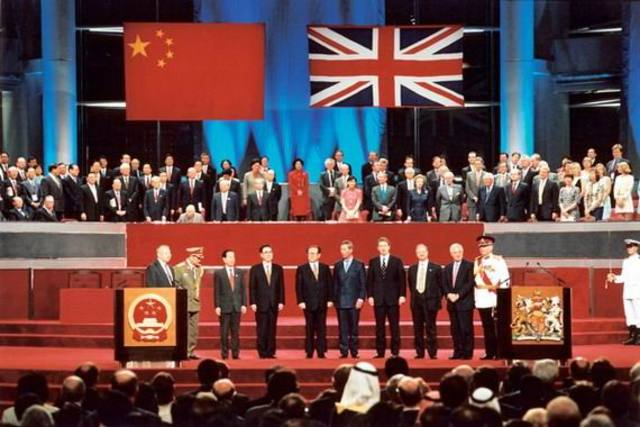 Hong Kong is returned to China