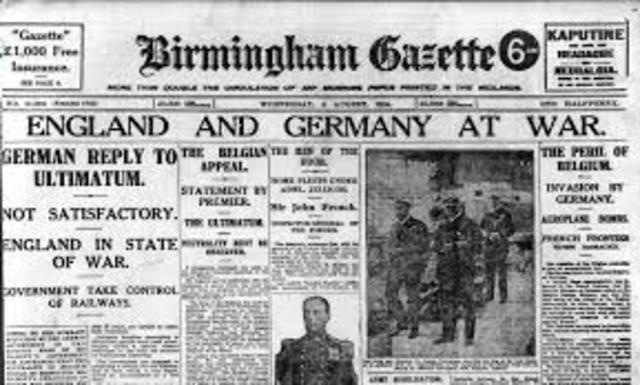 UK Declares war on Germany