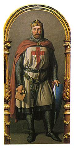 Partida del ejército franco-navarro a la octava cruzada