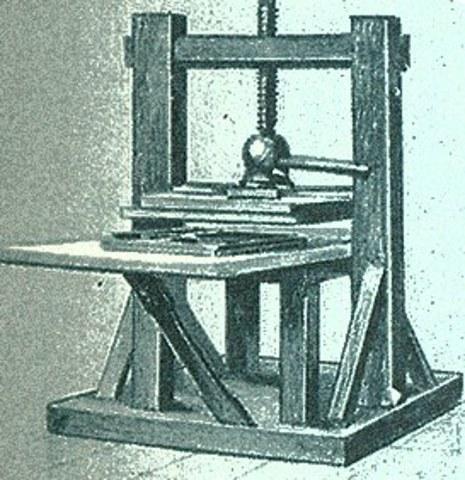 Johann Gutenberg's Printing Press