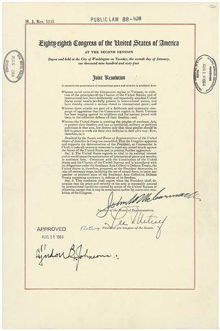 Gulf of Tonkin Resolution (1964)