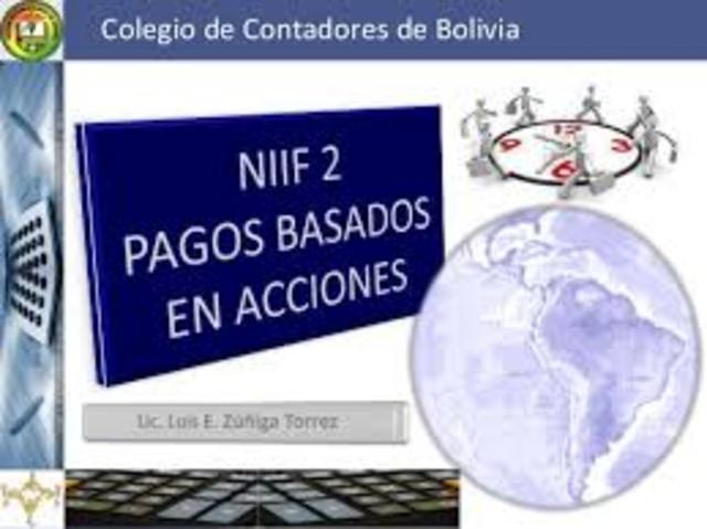 Publicación de las NIIF 2-6
