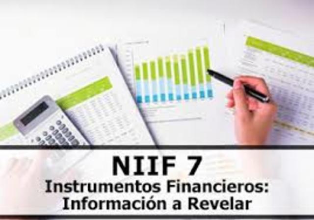 Publicación de las NIIF 7