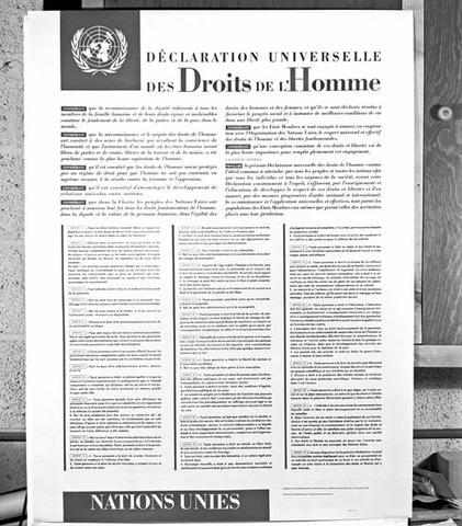 Déclaration Universelle des Droits de l'Homme par l'ONU