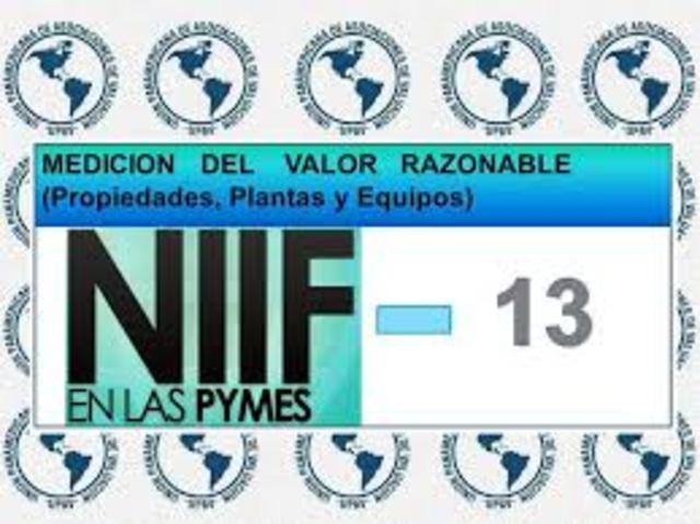 Emisión de algunas NIIF