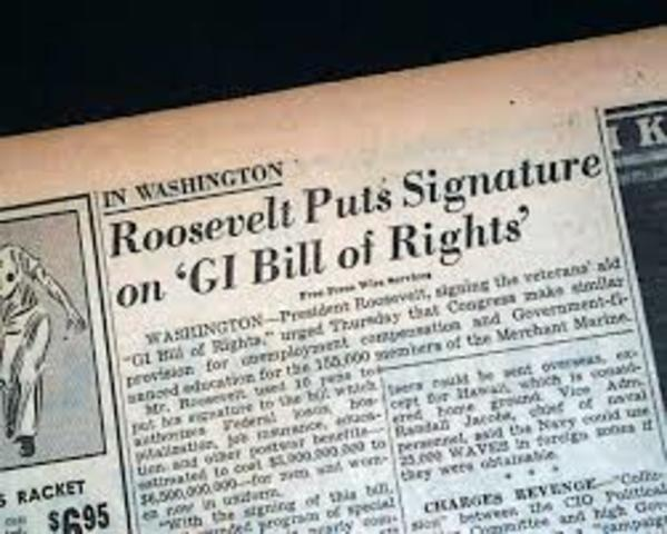 GI Bill of Rights Passed
