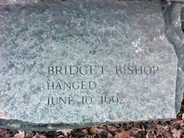 Bridget Bishop is hung - Salem Witch Trials