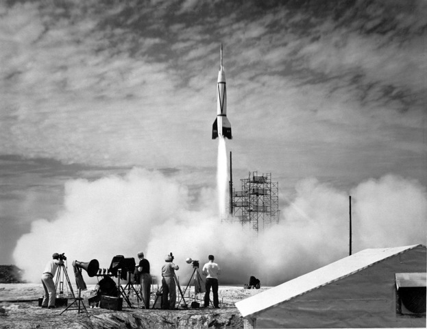 The V-2 rocket is launched