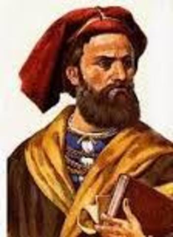 Marco Polo discuss a great unexplored southern land (Australia)