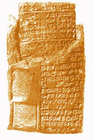 ESCRITURA DE LA EDAD DE BRONCE (escritura cuneiforme)
