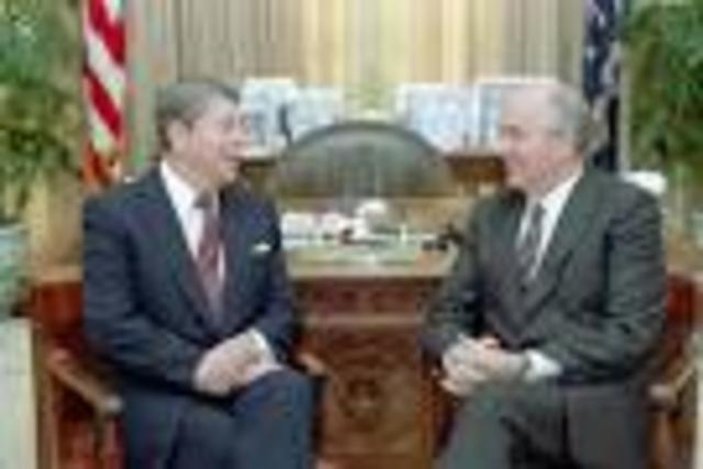 Reagan and Gorbachev meet